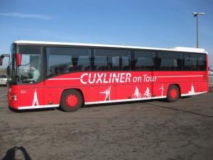 Bus CUXLINER mit der Fahrschule Abbi Totz aus Cuxhaven